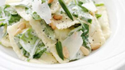 "<a href=""http://kitchen.nine.com.au/2016/05/18/03/31/ravioli-with-spinach-and-sage"" target=""_top"" draggable=""false"">Ravioli with spinach and sage</a> recipe"