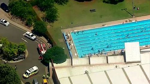 Emergency crews attend a pool in Picton where the incident occurred.