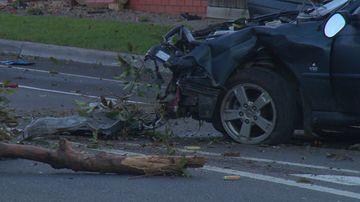 Driver killed in Melbourne crash after evading police
