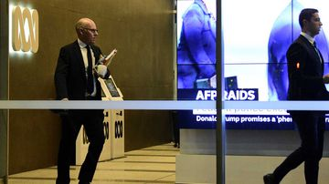 Officers from the AFP raided the ABC offices in central Sydney today.