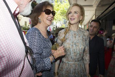All smiles! Nicole and mum Janelle walked the red carpet hand in hand on George Street in Sydney. <br/>