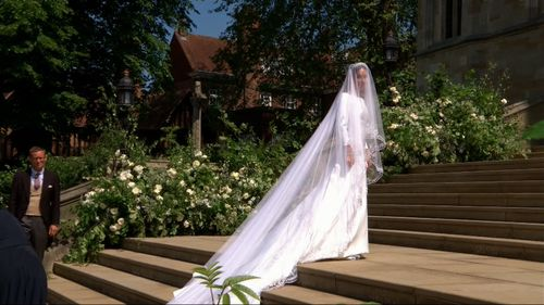 The gown was designed by the first female artistic director Givenchy. (9NEWS)
