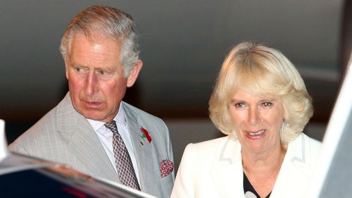 Prince Charles and wife Camilla arrive in Sydney. (AAP)