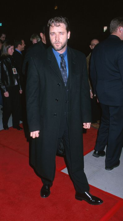 Russell Crowe during Proof of Life Los Angeles premiere in 2000 at The Academy in Beverly Hills, California, United States.