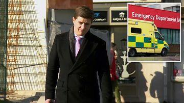 Injured 9NEWS reporter visits notorious UK hospital service