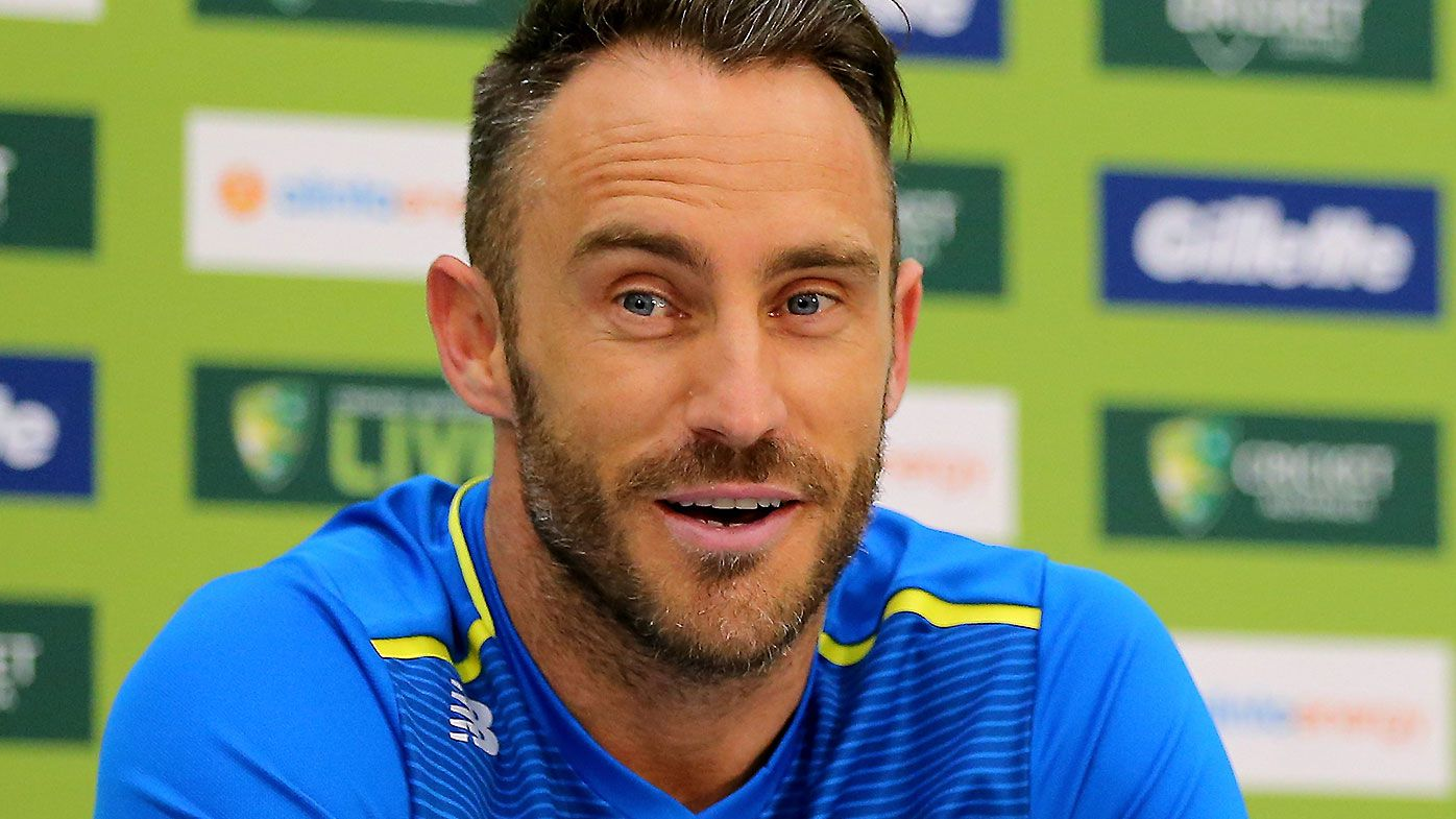 South African captain Faf du Plessis goes in to bat for banned ball tampering trio