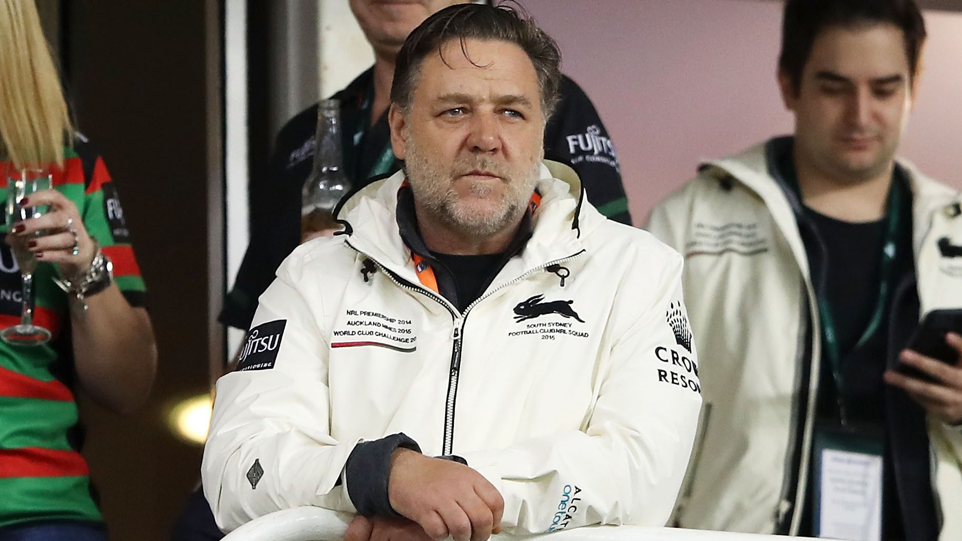 Russell Crowe steps in to save Shane Richardson's job at Rabbitohs: report