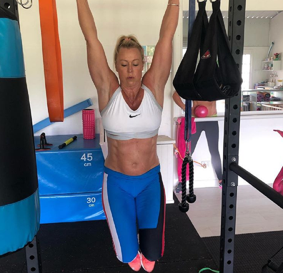 Lisa Curry exercising