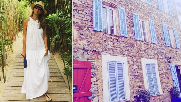 Sydney PR executive Mira Comara at Club 55 in St Tropez and details from a house in  the fabled French holiday town.
