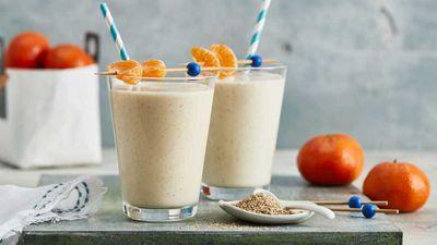 "Recipe: <a href=""http://kitchen.nine.com.au/2017/09/01/17/05/mandarin-breakfast-smoothie"" target=""_top"">Mandarin breakfast smoothie</a>"