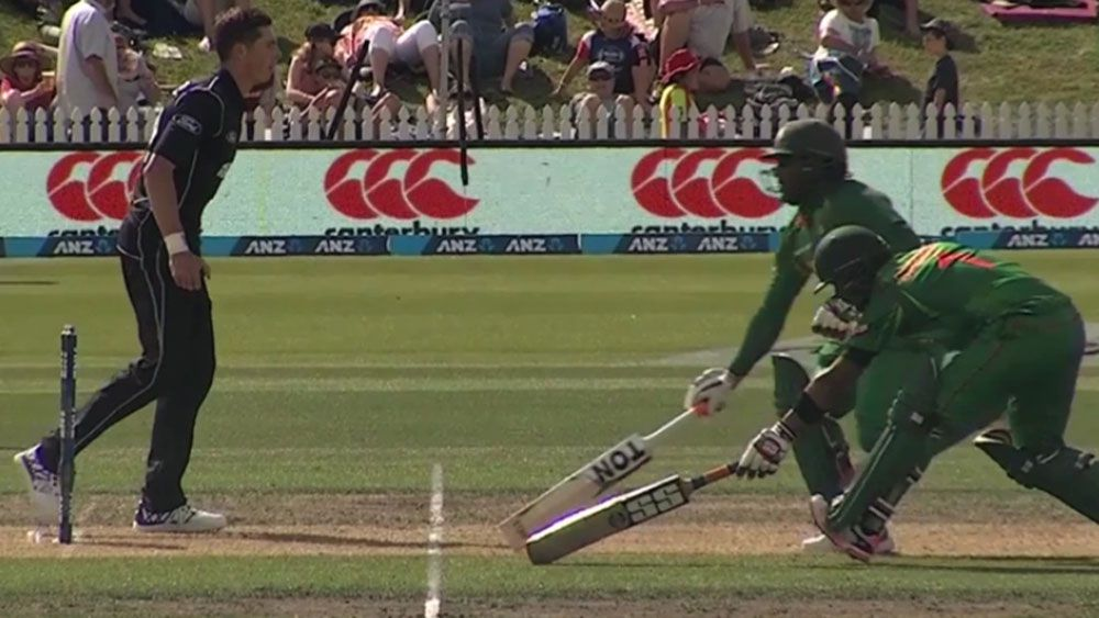 Crazy run out triggers Bangladesh collapse