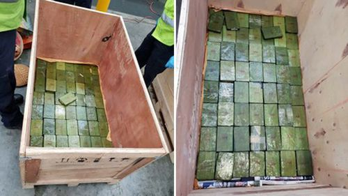 Inside the souvenirs, police discovered 400 blocks of heroin weighing 154 kilograms, carrying an estimated potential street value of more than $77 million.