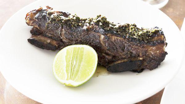 Argentinian-style tira de asado beef ribs