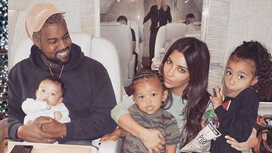Kanye, Chicago, Saint, Kim and North West.