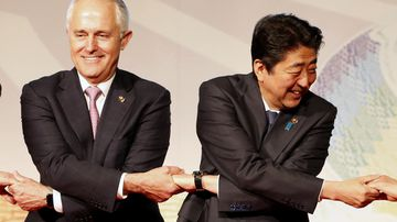 Trade and troops on the agenda for Turnbull's Japan visit