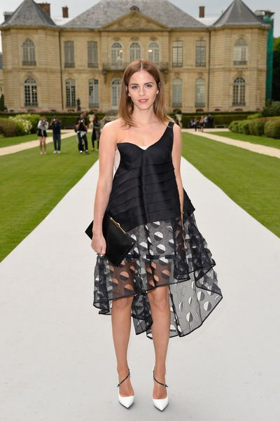 Emma Watson in Christian Dior at the Christian Dior show for Paris Fashion Week in Paris, July, 2014