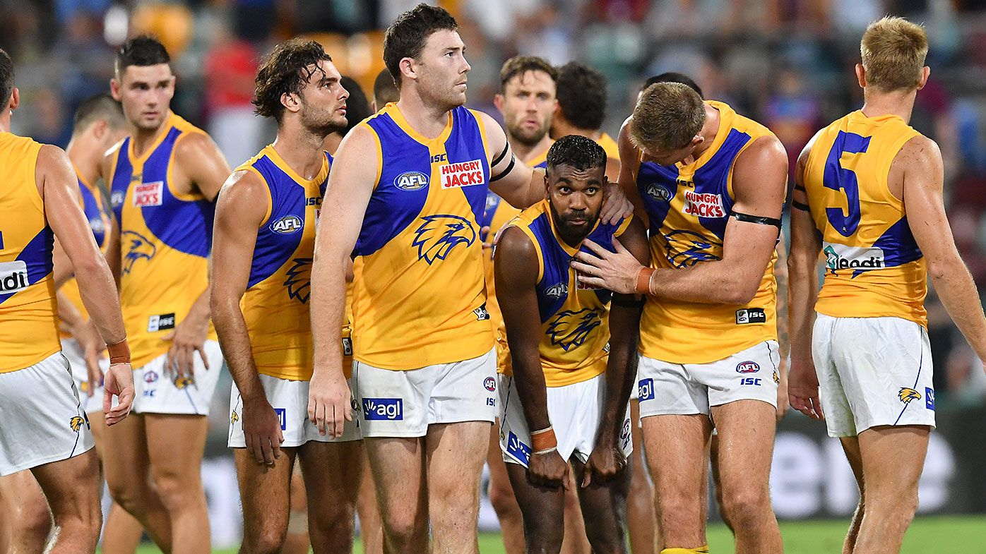 West Coast Eagles rally around Liam Ryan after 'disgusting' racist comments from troll