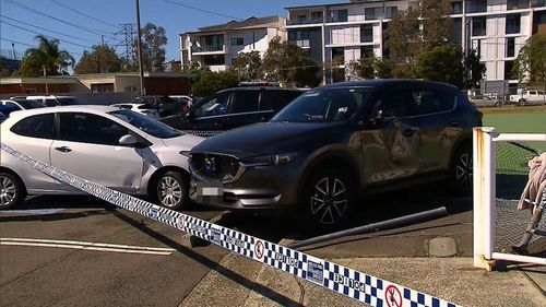 The driver of the vehicle is now assisting police with enquiries. Picture: 9NEWS.