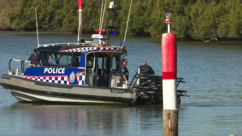 The body was retrieved from the water.