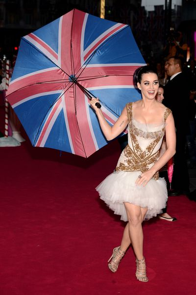 Katy Perry in Marchesa at the London premiere of&nbsp;<em>Katy Perry Part Of Me&nbsp;</em>in 2012