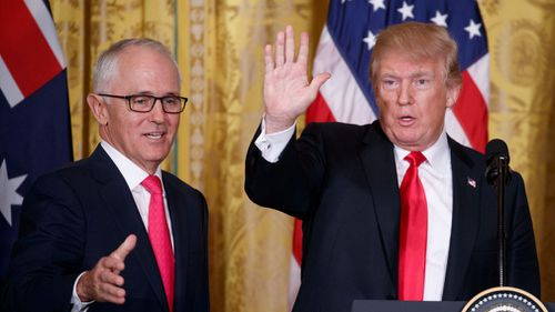 One option being considered is Mr Trump visiting Sydney, Canberra and Cairns. Picture: EPA