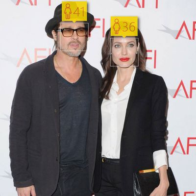 <p>Brad Pitt, 51, and Angelina Jolie, 39</p>