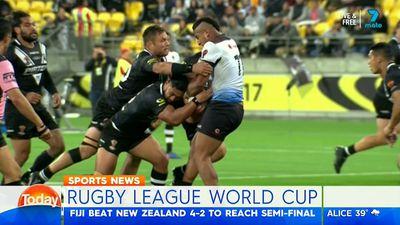 Rugby League World Cup: Fiji upset NZ in tryless quarter final