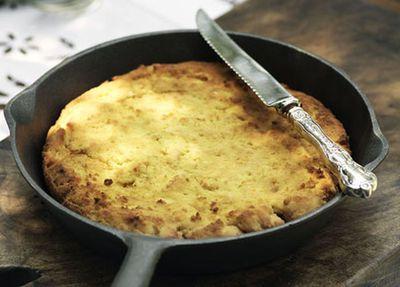 "Recipe: <a href=""https://kitchen.nine.com.au/2016/05/19/15/48/cornbread"" target=""_top"">Skillet cornbread</a>"