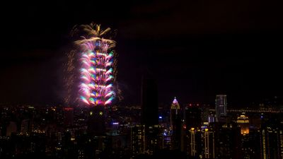 Taiwan's dazzling fireworks show cost close to A$2 million. (AAP)