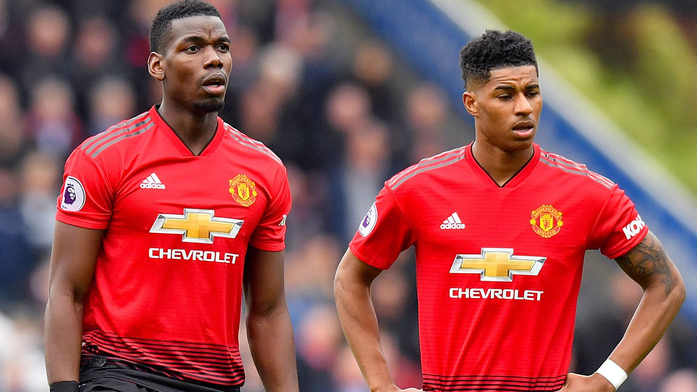 Manchester United's Paul Pogba and Marcus Rashford