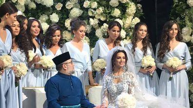 Russian model Oksana Voevodina has married Malaysian king Muhammad V of Kelantan