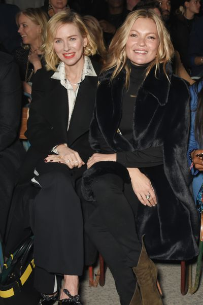 Naomi Watts and Kate Moss at Burberry A/W '18, London Fashion Week