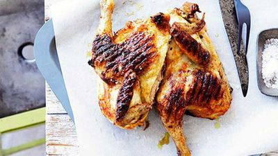 "Recipe:&nbsp;<a href=""http://kitchen.nine.com.au/2016/05/16/19/57/grilled-whole-chicken-with-piri-piri"" target=""_top"">Grilled whole chicken with piri piri</a>"