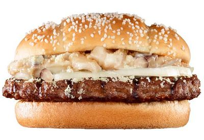Mush 'n' Cheese burger