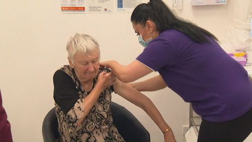 Jane Malysiak has received the first COVID vaccine in Australia