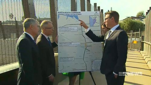 The $354 million upgrade is set to save commuters eight minutes off their peak hour commute. (9NEWS)