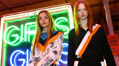 Models present the pre-fall 2016 collection
