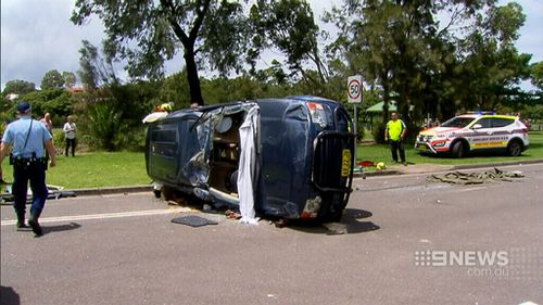 Amazingly, the 65-year-old woman walked away with only minor injuries. (9NEWS)
