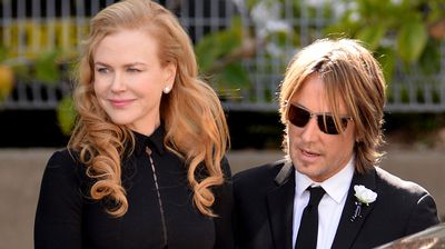 Nicole Kidman wasaccompanied by her husband Keith Urban at the funeral of her father clinical psychologist Antony Kidman at St Francis Xavier, in Sydney.