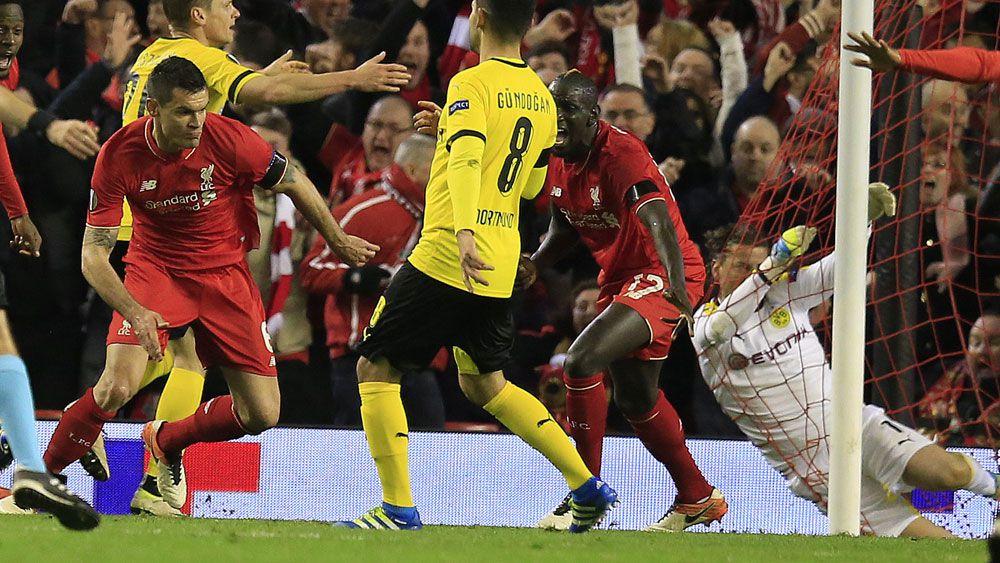 Liverpool stun Dortmund in Europa thriller