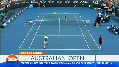 Australian Open: Lleyton Hewitt, Sam Groth win through in doubles second round