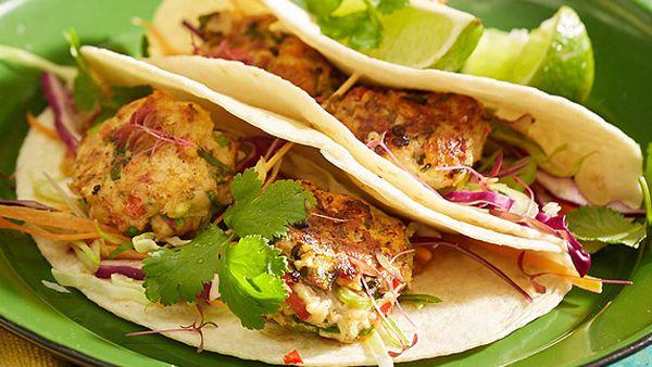 Jamaica Blue's fish tacos with salad