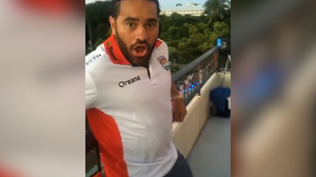 Fifita gets Hurrell with snake bite prank