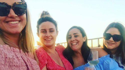 Friends Julia Rocca, Steph Lamb, Julia Monaco and Alana Reader on holiday in Rome. (Facebook)