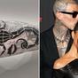 Celebrities show off their tattoos