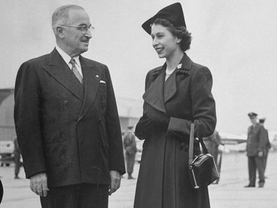 Princess Elizabeth talking with President Harry S. Truman, Washington DC, November 1951.  (Photo by George Skadding/The LIFE Picture Collection via Getty Images)