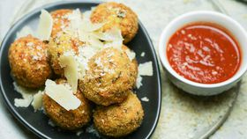 Family Food Fight: The Pluchinotta's Mini Arancini recipe