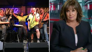 Pub rockers 'Tradie Grimshaws' backing ACA host for Gold Logie