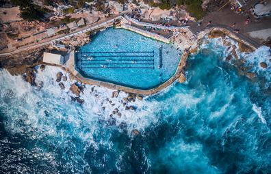 Bronte ocean pool, aerial photo