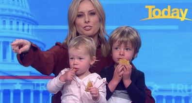 Even the little ones looked concerned as they tucked into Stefanovic's breakfast.